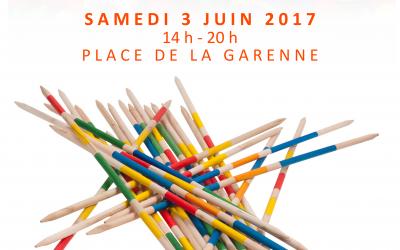 Samedi 3 Juin 2017, la Fête du Jeu de Ludido sur la Place de la Garenne