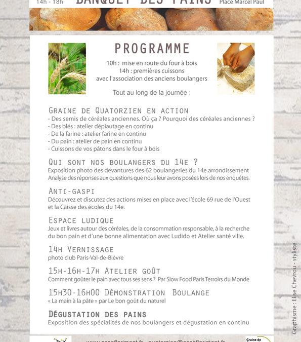 Le programme du Banquet des pains 2018