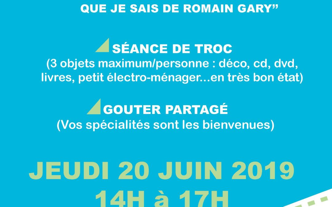 Le club séniors vous invite à un goûter partagé le 20/06/2019
