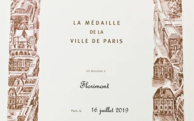 Florimont médaillée par la ville de Paris.