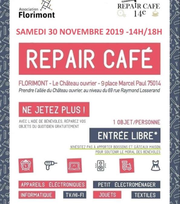 Repair café Samedi 30 Novembre 2019