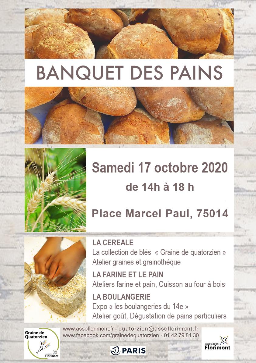 affiche banquet des pains du 17 octobre 2020