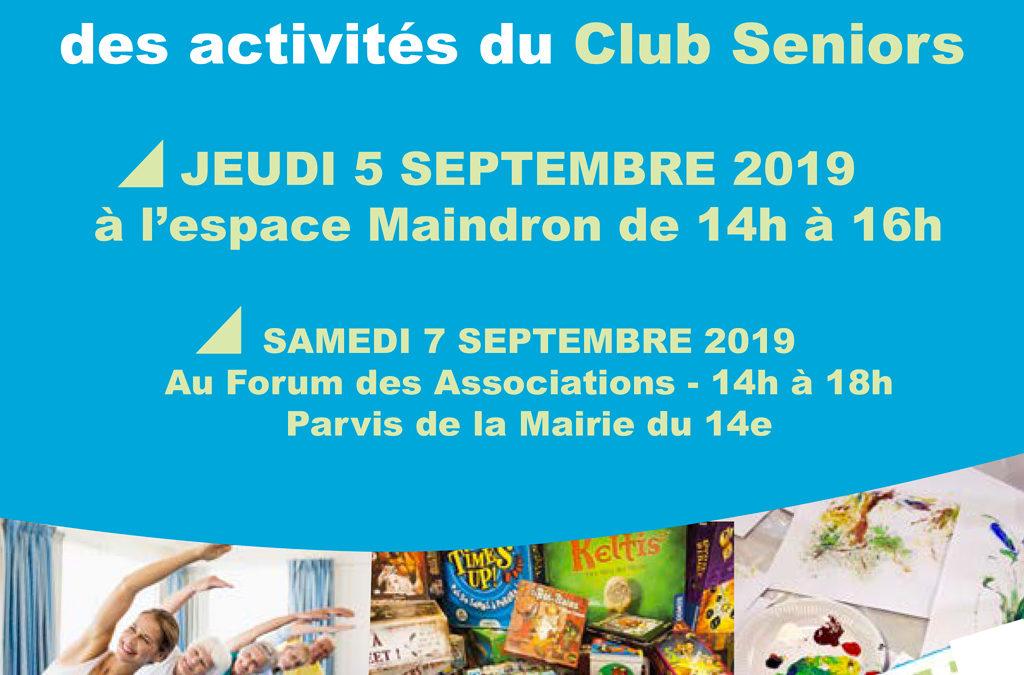 Le club séniors présente ses activités