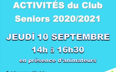 Demandez le programme du club seniors Maindron