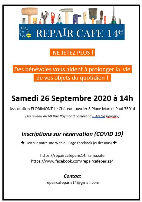 Repair café – septembre 2020