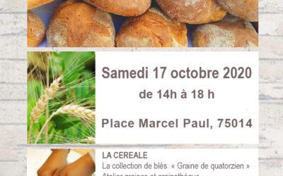 Banquet des pains le 17 octobre 2020 à partir de 14 heures