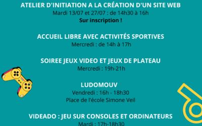 Jeunes du 14e arrondissement venez découvrir nos activités au mois de juillet
