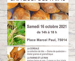 Samedi 16 Octobre – Banquet des pains